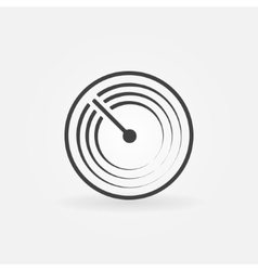 Radar simple icon vector