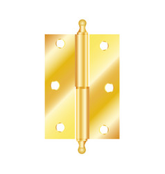 Realistic hinges stainless steel icon vector