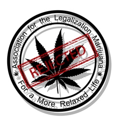 Reject marijuana vector image
