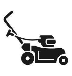 Rotary grass cutter icon simple style vector