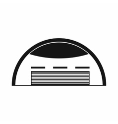 Round barn icon simple style vector image