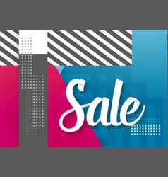 sale paper lettering template modern sale vector image