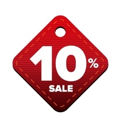 Sale ten percent pricetag red vector