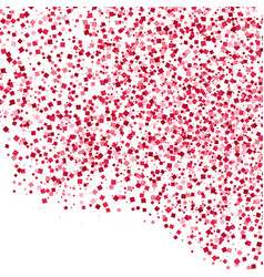 scarlet explosion of confetti isolated on white vector image