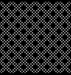 seamless pattern small crosses diagonal grid vector image