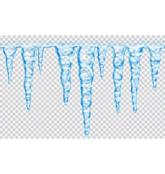 Seamless repeatable icicles vector