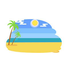 seaview seascape with tropical beach hot summer vector image