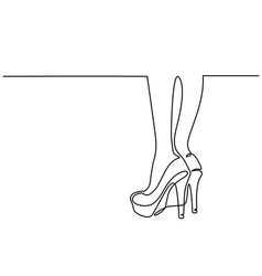sexy woman legs in high heels shoes vector image