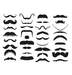 silhouette black white mustache hair vector image