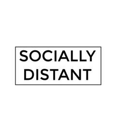 Social distancing special quote design vector