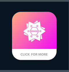 star branding brand logo shape mobile app button vector image