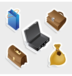 Sticker icon set for bags vector