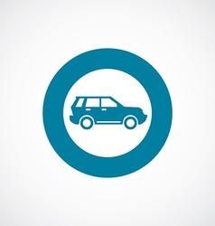 suv icon bold blue circle border vector image