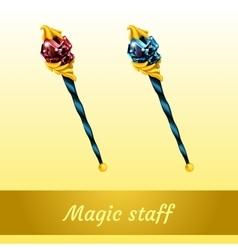 Two magical artifact wizard vector