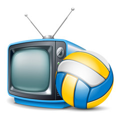 volleyball channel vector image