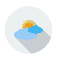 Weather icon Sun and cloud vector image