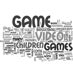 What you need to know video games text word cloud vector