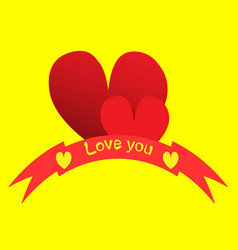 With a red valentine heart vector