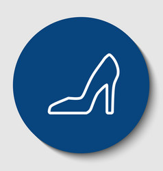 woman shoe sign white contour icon in vector image