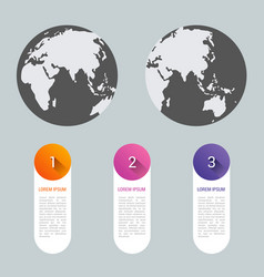 World map pointer marks icon flat web sign symbol vector