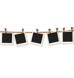 Blank photo frames on line vector image