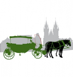 carriage 2 vector image vector image