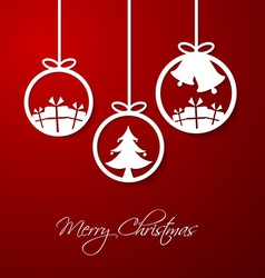Merry Christmas hanging decorative ball vector image vector image