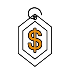 price commerce tag isolated icon vector image vector image