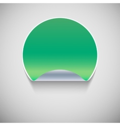 special green sticker vector image