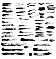 Black paint brush strokes collection vol 2 vector image