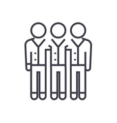 business team line icon sign vector image