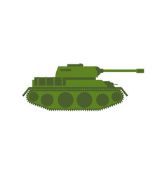military tank isolated army war machine on white vector image