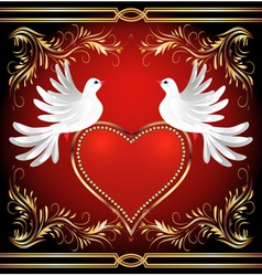 two doves vector image vector image