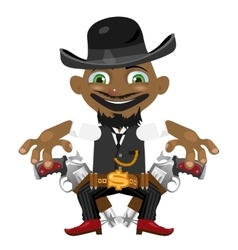 Black man cartoon fictional character vector image vector image