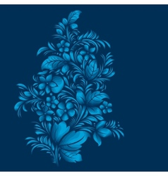 blue flower ornament gzhel russian style vector image vector image