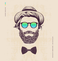 hipster with hat vector image vector image