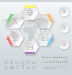 infographics business options template for vector image vector image