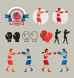 Boxing Graphic Elements vector image vector image