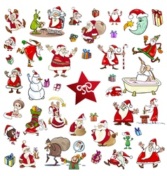 christmas themes cartoon set vector image vector image
