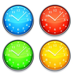 color clock vector image vector image