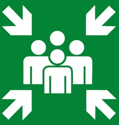 Fire Evacuation Meeting Point Sign vector image vector image