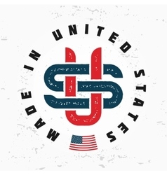 Made in USA monogram Vintage America logo vector image