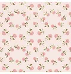 Pink vintage rose pattern Seamless vector image vector image