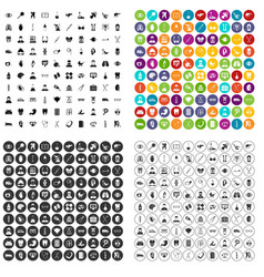 100 medical checkup icons set variant vector