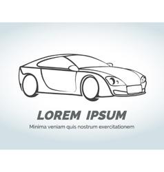Abstract car logo for race auto store vector