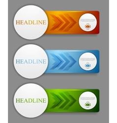 Abstract web headers design banners vector image