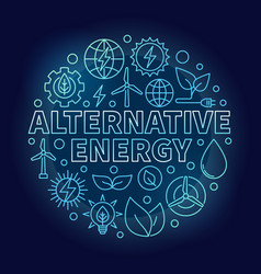 Alternative energy blue vector