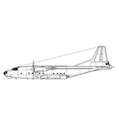 Antonov an-8 camp vector