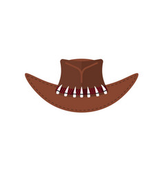Australian crocodile hunter cap cowboy brown hat vector