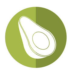 avocado harvest nutrition icon shadow vector image